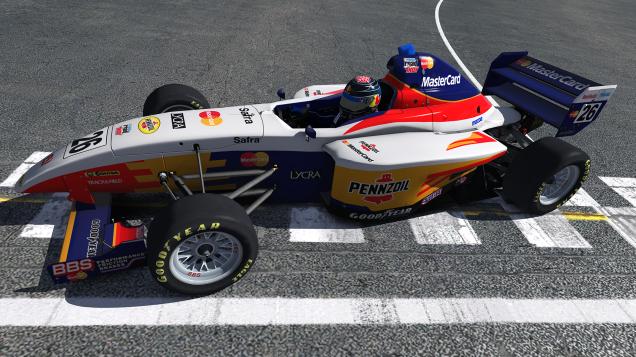 Star Mazda en iRacing (sí, uso un skin del Team Mastercard Lola F1 de 1997)