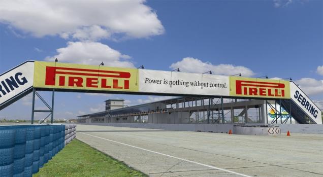Recta principal del circuito de Sebring